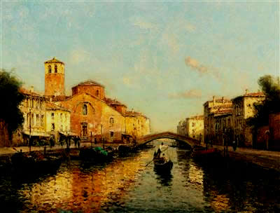 Venetian Canal in the Evening Sun