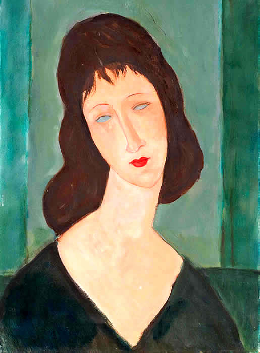 Fake Modigliani portrait by DeHory