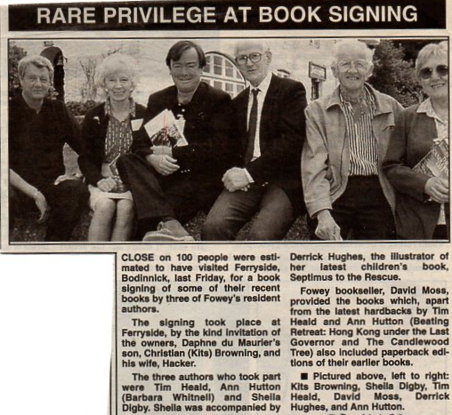 Cornish Guardian Book Signing Fowey