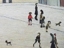 Detail from legitimate L S Lowry work
