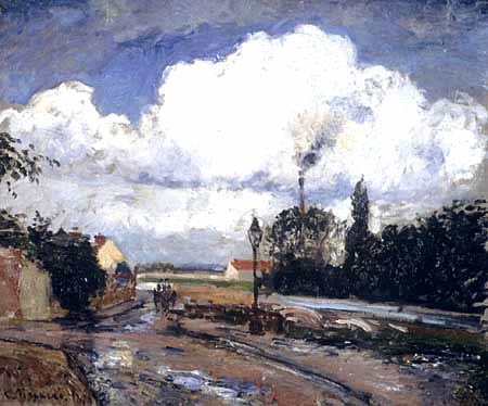 After the rain. Quay at Pontoise. Pissarro