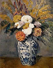 Cezanne floral oil painting