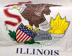 Illinois flag.