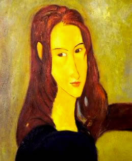 Modern Modigliani fake portrait.