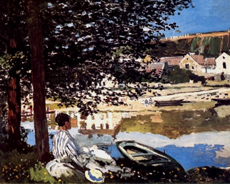 Monet River scene Bennecourt