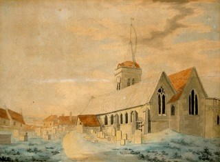 Turner watercolour of St Johns church Margate, England